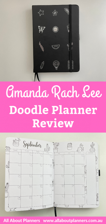 amanda rach lee doodle planner review academic calendar year adult colorig hybrid bullet journal bujo pros and cons