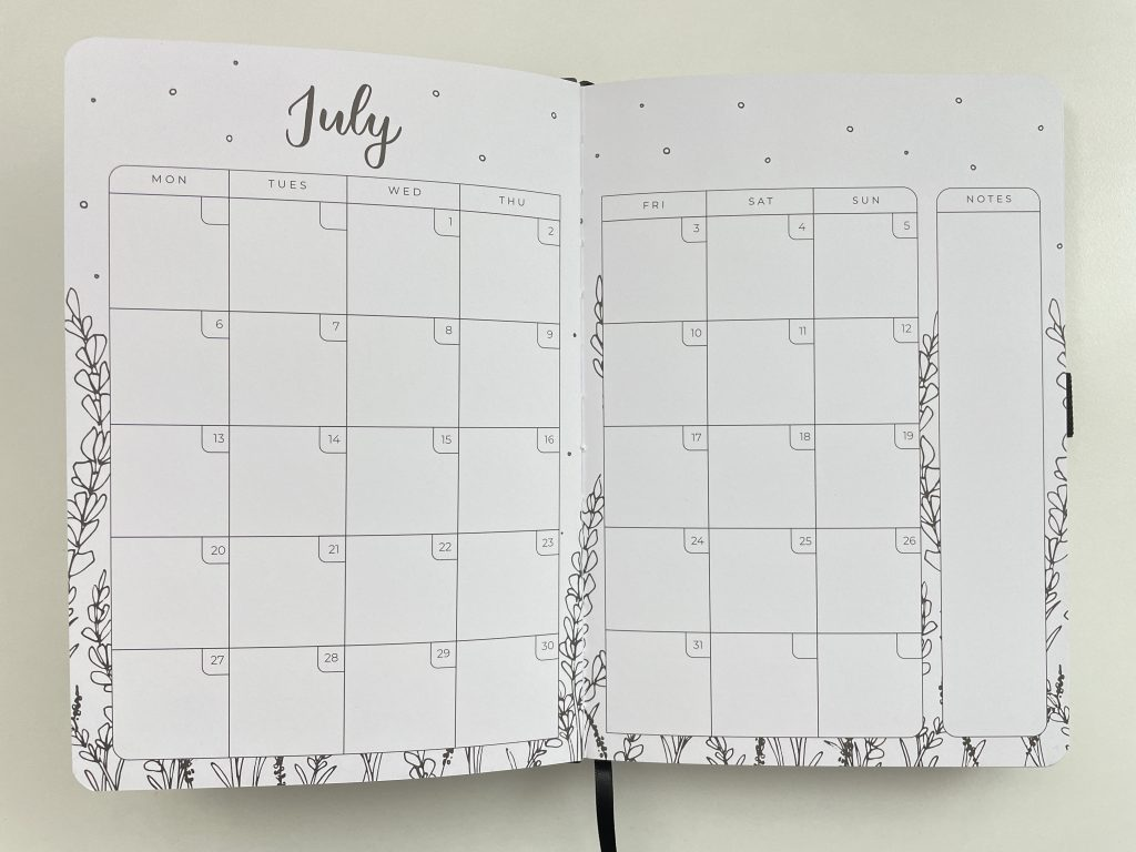 amanda rach lee doodle planner review monthly calendar weekly spreads minimalist adult coloring floral themed