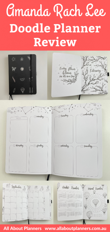 amanda rach lee doodle planner review pros and cons monday week start 2 page monthly calendar