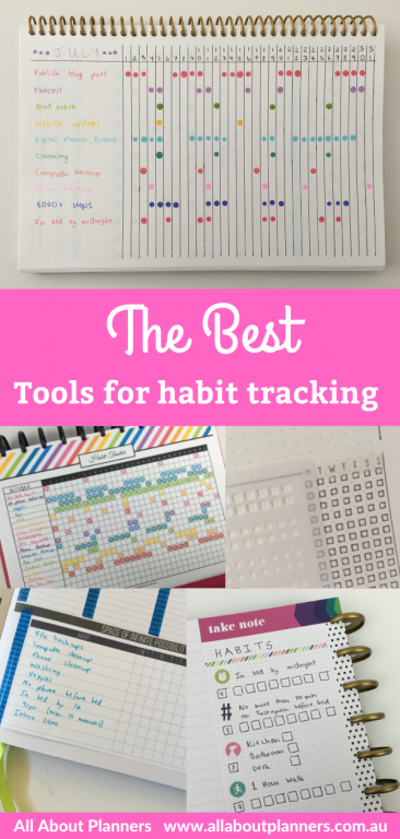 best tools for habit tracking in your planner or bullet journal tips recommendations favorite bullet journaling supplies
