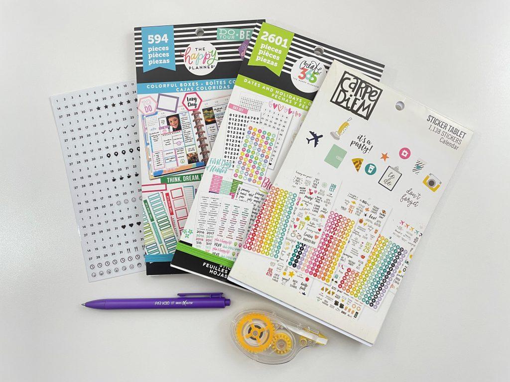 carpe diem happy planner stickers weekly spread in my custom agendio notebook