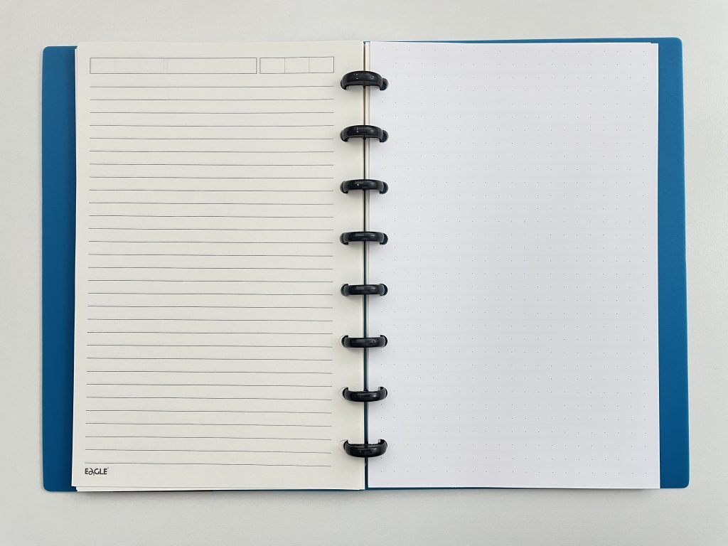 eagle discbound notebook compatible with the eleven discs pen testing paper quality junior page size