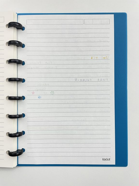 eagle discbound notebook pen testing ghosting show through pros and cons paper quality comparison with other discbound planners