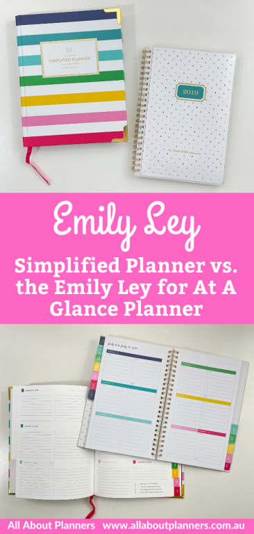 emily ley simplified planner review and comparison with the simplified planner at a glance collab