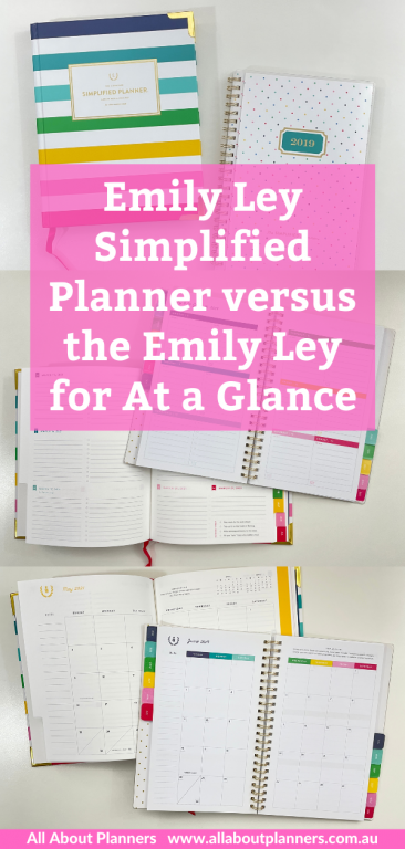 emily ley simplified planner review and comparison with the simplified planner at a glance collab pen testing pros and cons