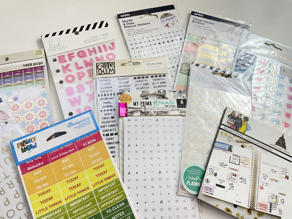 favorite functional planner stickers brands date dots days of the weeks functional icons alphabet gold home cleaning travel student appointments-min