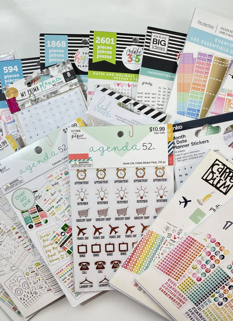 favorite functional sticker books for planning newbies happy planner carpe diem the paper studio oh hello co bloom recollections icons labels colorful-min