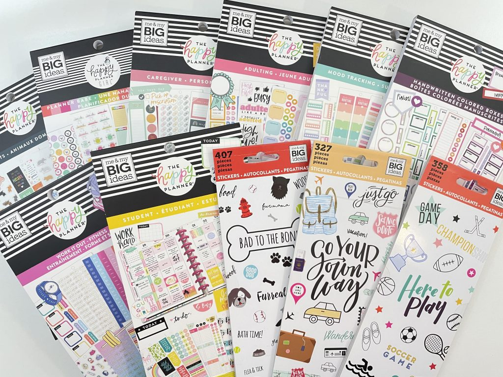 happy planner sticker books functional review budgeting pet cleaning home maintenance colorful boxes student recommended planner supplies-min