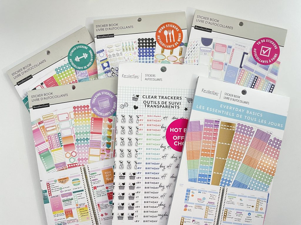 recollections sticker books review functional icons habit trackers budgeting no spend cleaning meal planning travel-min