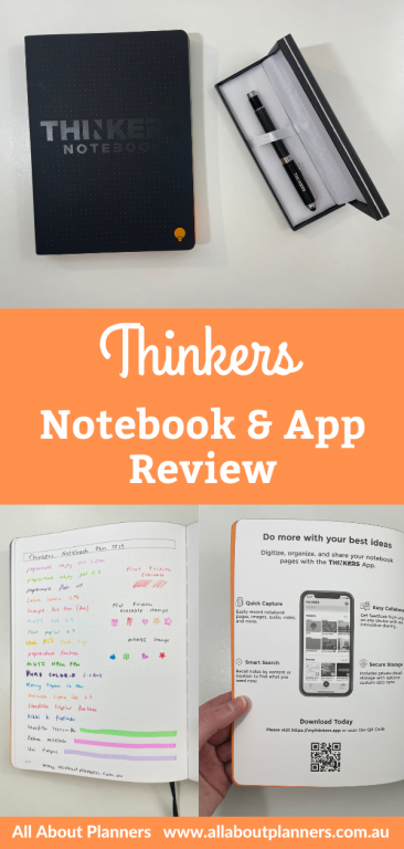 thinkers notebook review and app pen testing ghosting bleed through pros and cons