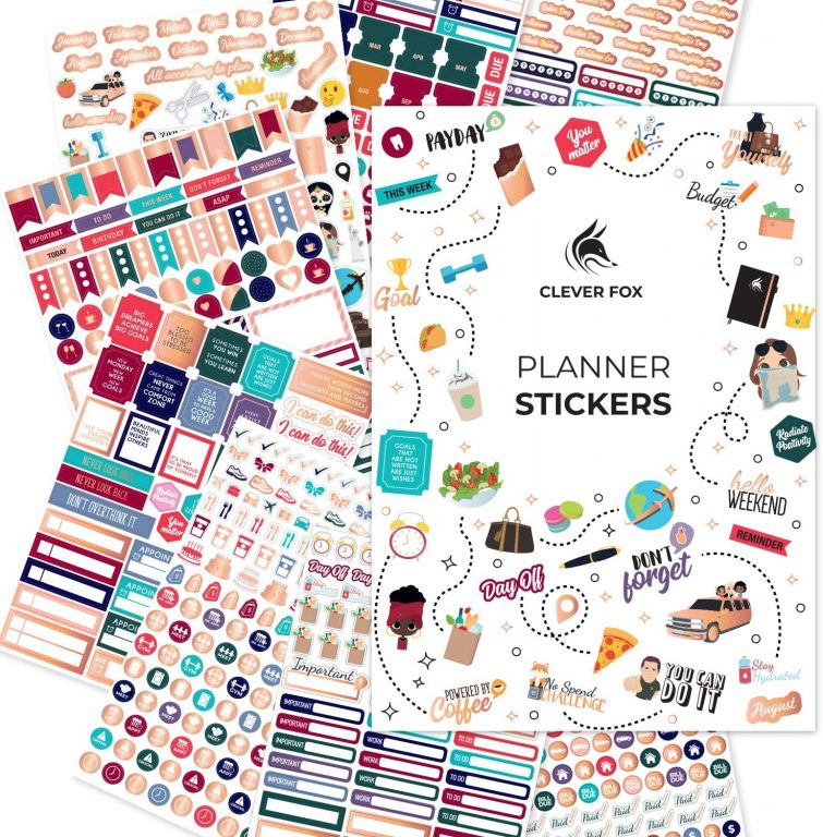 clever fox functional planner stickers all about planners favorite brands for bullet journaling daily planning icons labels