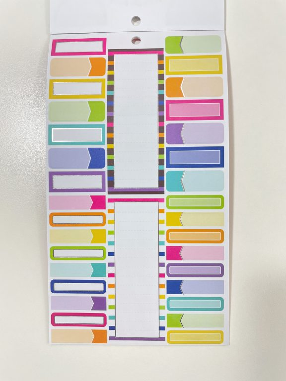 krissy anne sticker book for craft smith rainbow functional flag banner icons text favorite brands all about planners