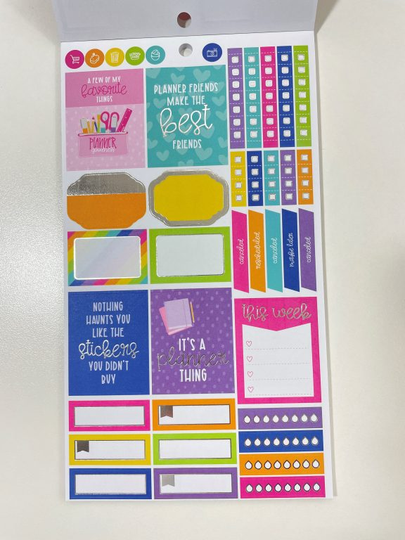 krissy anne sticker book for craft smith rainbow functional flag banner icons text favorite brands all about planners quote box label checklist