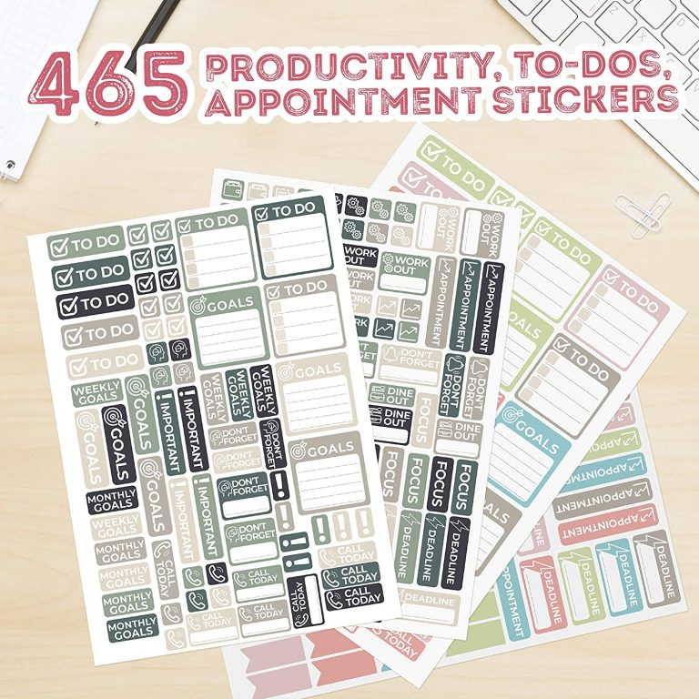 little more functional planner stickers appointment labels to do