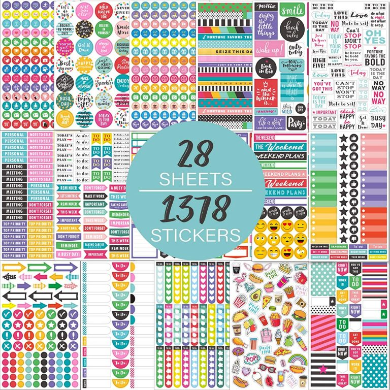 maalbok planner stickers review functional icons rainbow amazon affordable sticker bundles bullet journal supplies