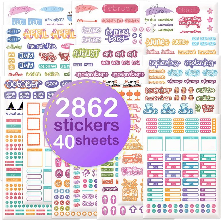 savvy bee planner stickers amazon functional planner stickers brands bullet journaling all about planners recommendations