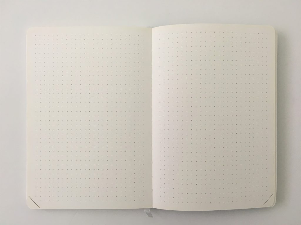 scribe journal dot grid notebook review pros and cons pen testing ghosting bleed through perforated pages ivory