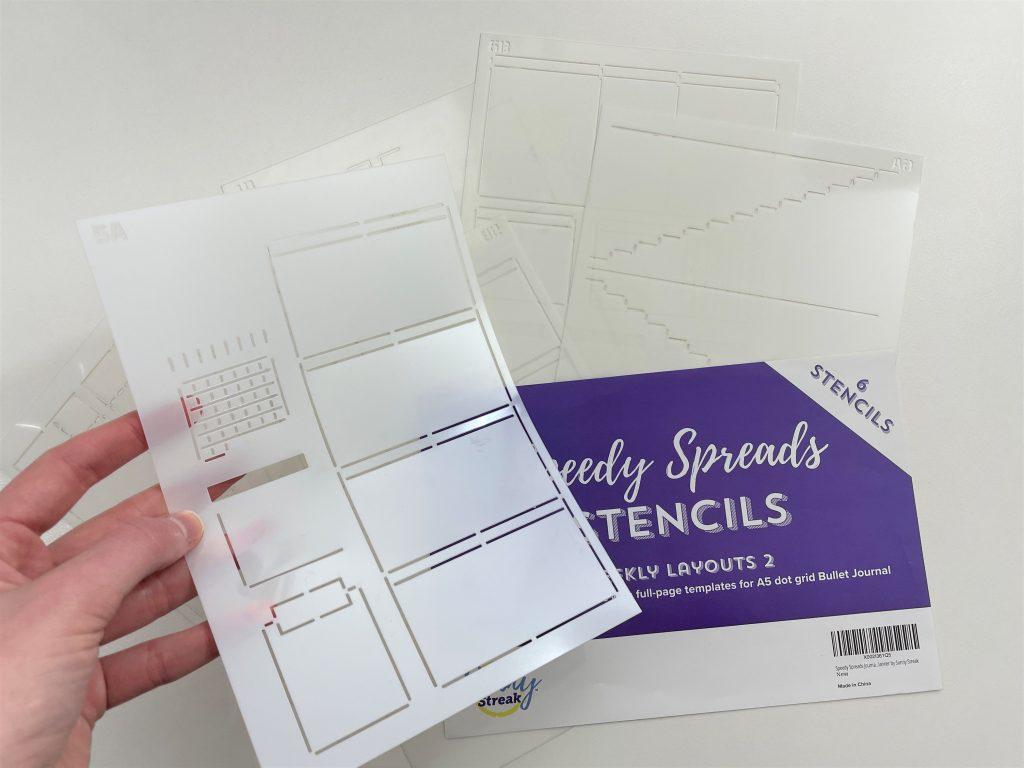speedy stencils weekly spread favorite planner supplies pros and cons newbie bullet journaling