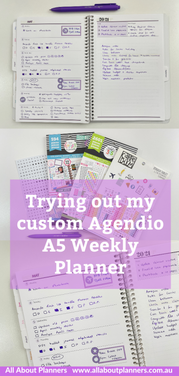 trying out my custom a5 agendio weekly planner review pros and cons tips how to make your own custom planner diary