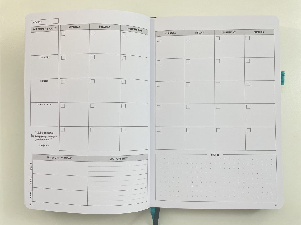 wordsworth monthly calendar monday week start minimalist bright white paper pros and cons video review top 3 goals