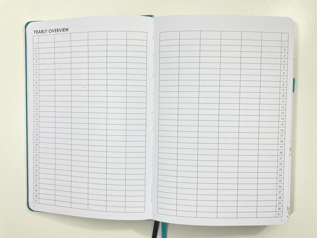 wordsworth planner review annual overview undated horizontal dashboard layout lined unlined dot grid