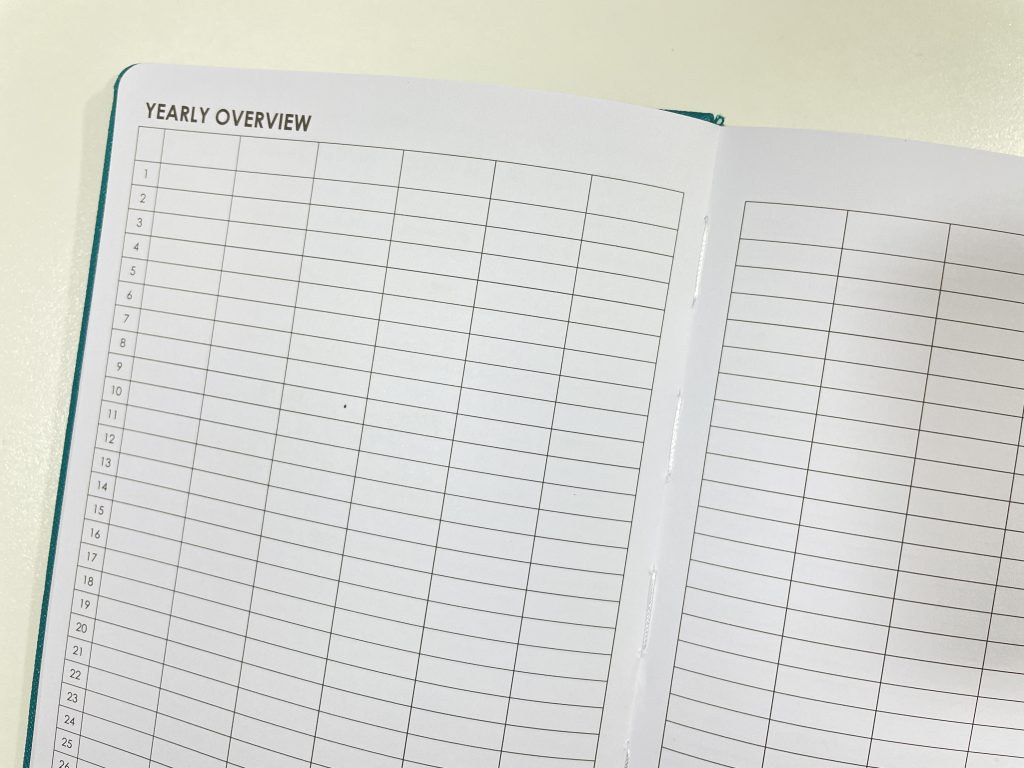 wordsworth planner review annual overview undated horizontal dashboard layout lined unlined dot grid video flipthrough