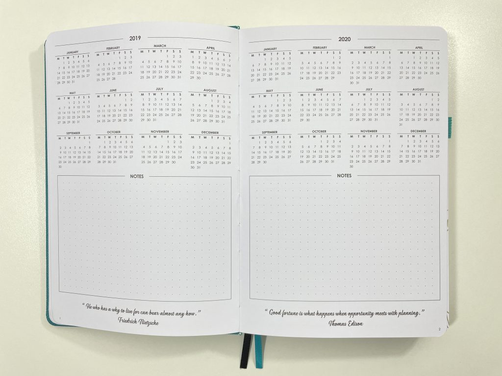 wordsworth planner review dates at a glance dot grid lined unlined dashboard weekly planner monday start pros and cons