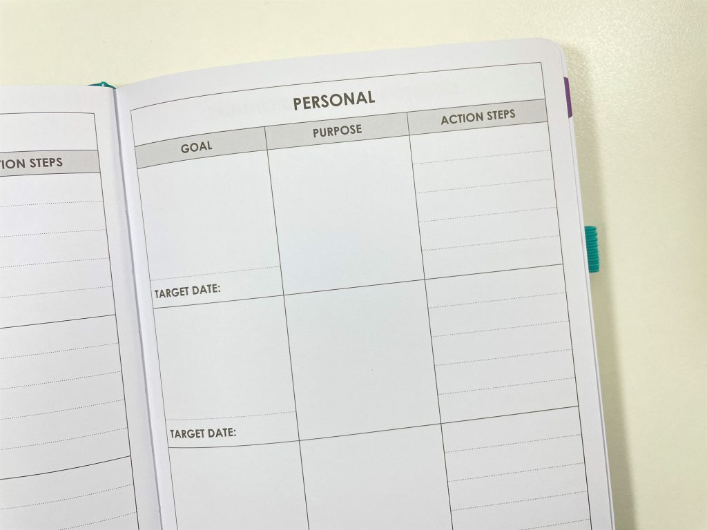wordsworth planner review pros and cons personal goals family work relationship monthly calendar weekly planner dashboard layout monday week start