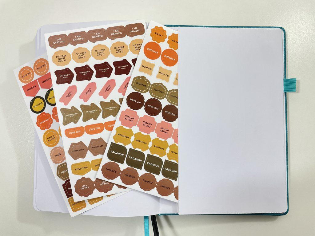 wordsworth planner stickers pocket folder review dashboard horizontal unlined dot grid