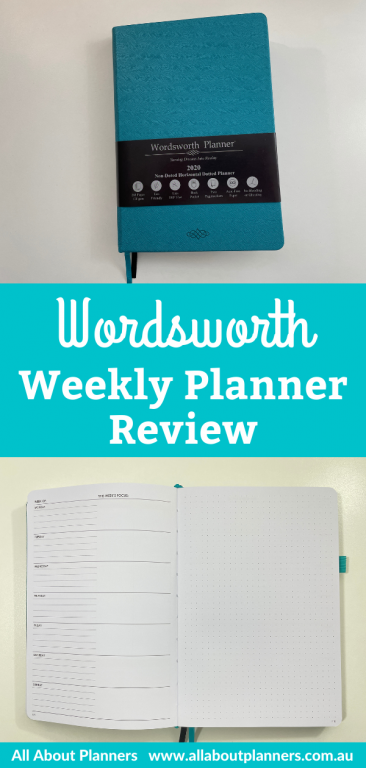 wordsworth weekly planner review pros and cons dashboard layout monday start lined unlined bright white paper hardcover sewn bound monthly calendar goals