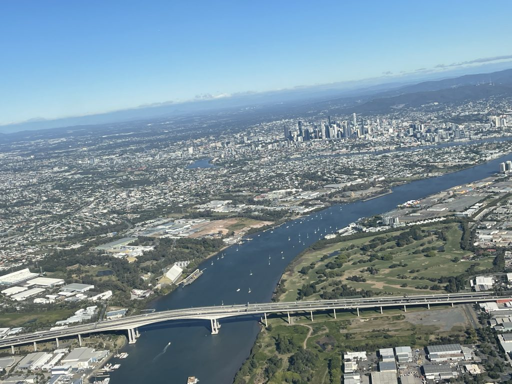 brisbane airport best side of the plane to sit on for takeoff right side canberra itinerary