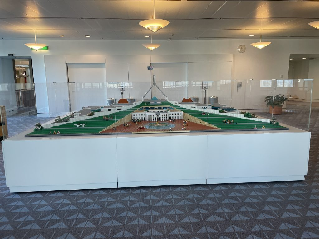 Parliament house australia lego replica model best of canberra in one day itinerary