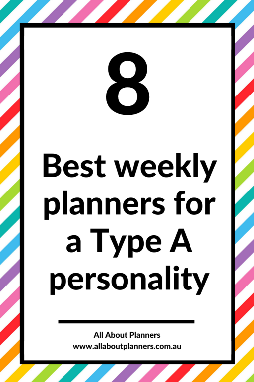 best planners for a type A personality mi goals dashboard vertical hourly discbound printables high achiever project planner student