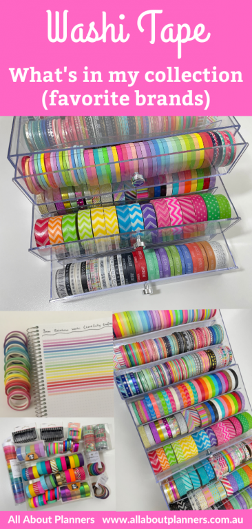 favorite washi tape brand collection haul video flipthrough skinny functional rainbow recollections drawers weekdays 15mm carefully crafted