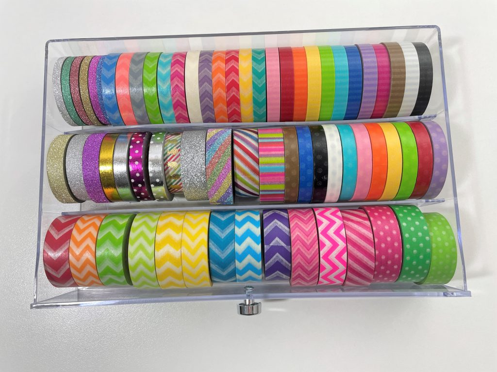 rainbow washi tape collection 3mm 5mm 15mm skinny wide chevron polka dots doodlebug foil glitter recollections washi drawer organization
