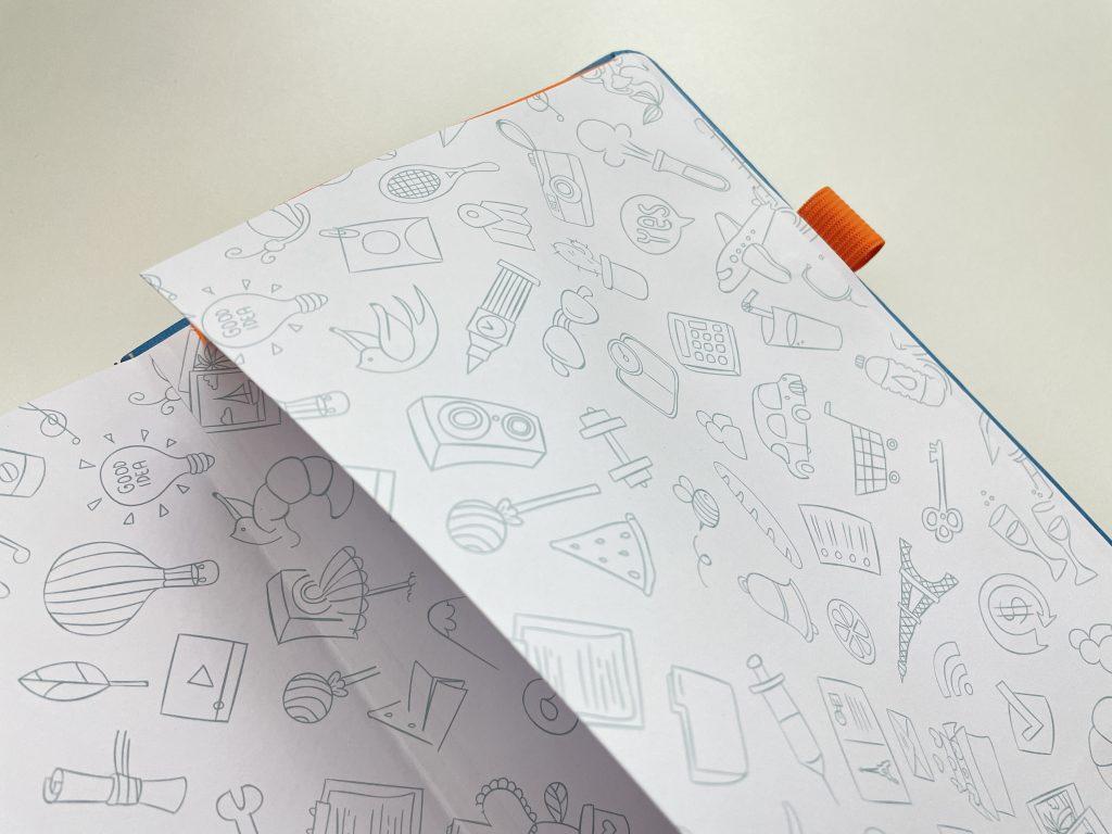 scribbles that matter bullet journal notebook review pro version 160 gsm paper pocket folder pen loop bright white pen test