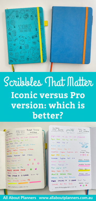 scribbles that matter iconic versus pro version which is better pen test a5 page size hardcover video comparison review