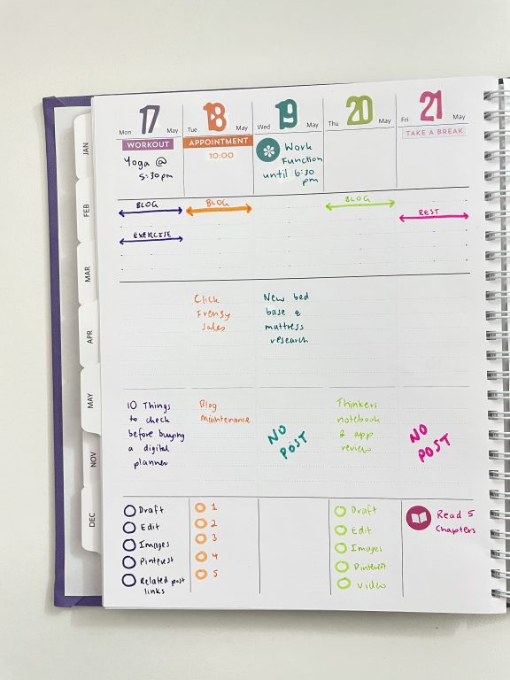 vertical weekly spread agendio custom planner using carpe diem number sticker tablet recollections everyday basics sticker book tombow dual pens