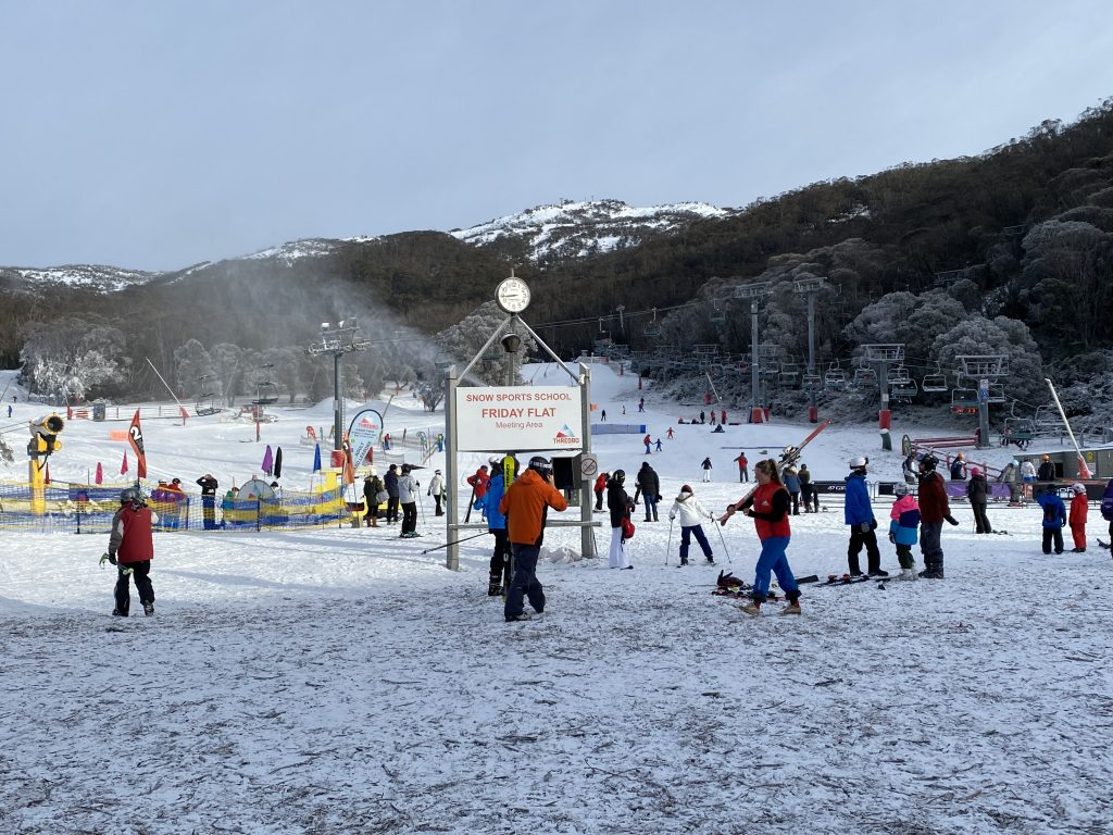 Thredbo beginner slope Friday Flat skiing in australia review tips how to get there