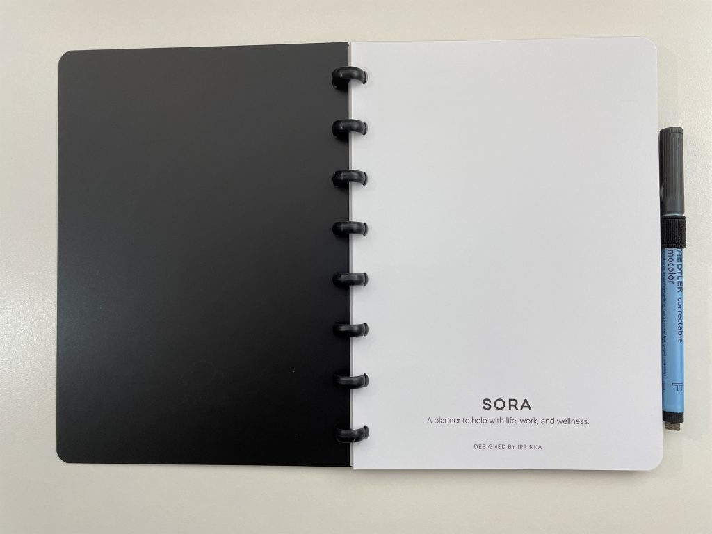 SORA discbound whiteboard paper review pros and cons video flipthrough lined dot grid weekly monthly habit tracker