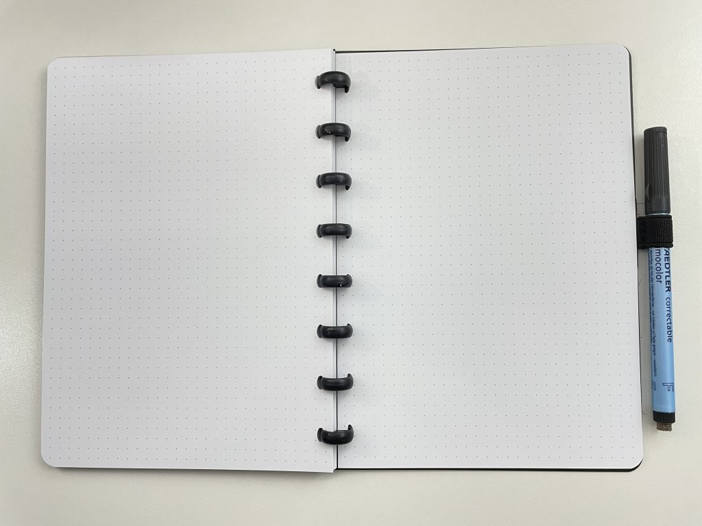SORA dot grid notebook discbound bullet journal whiteboard paper reusable notebook eco friendly vertical horizontal monthly calendar