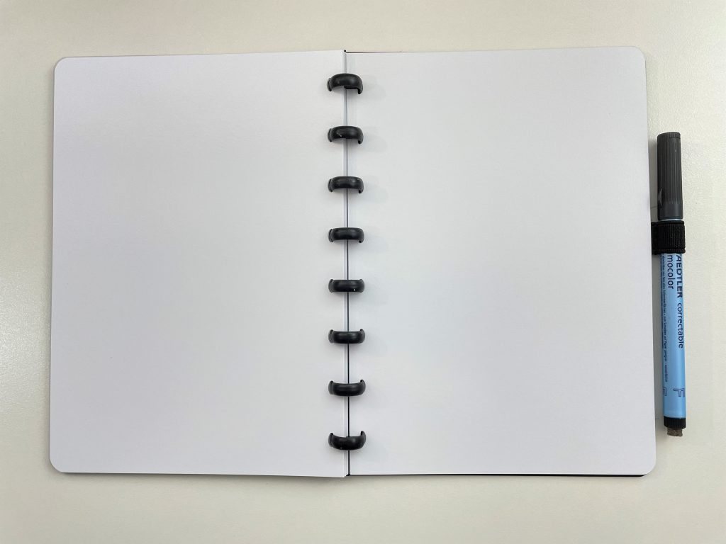 SORA notebook review whiteboard paper reusable discbound lined dot grid vertical weekly horizontal monthly habit tracker video flipthrough honest review