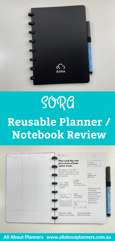SORA reusable planner notebook review video flipthrough pros and cons whiteboard pages erasable monthly calendar weekly spread dot grid lined blank