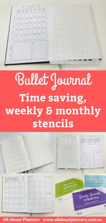 bullet journal time saving stencils weekly monthly best bullet journal tools simple quick easy a5 size habit tracking checklists