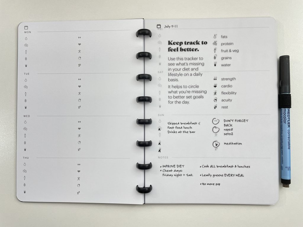 sora reusable notebook review whiteboard pages pros and cons video flipthrough disc binding annual overview monthly weekly habit tracker lined dot grid hybrid notebook planner