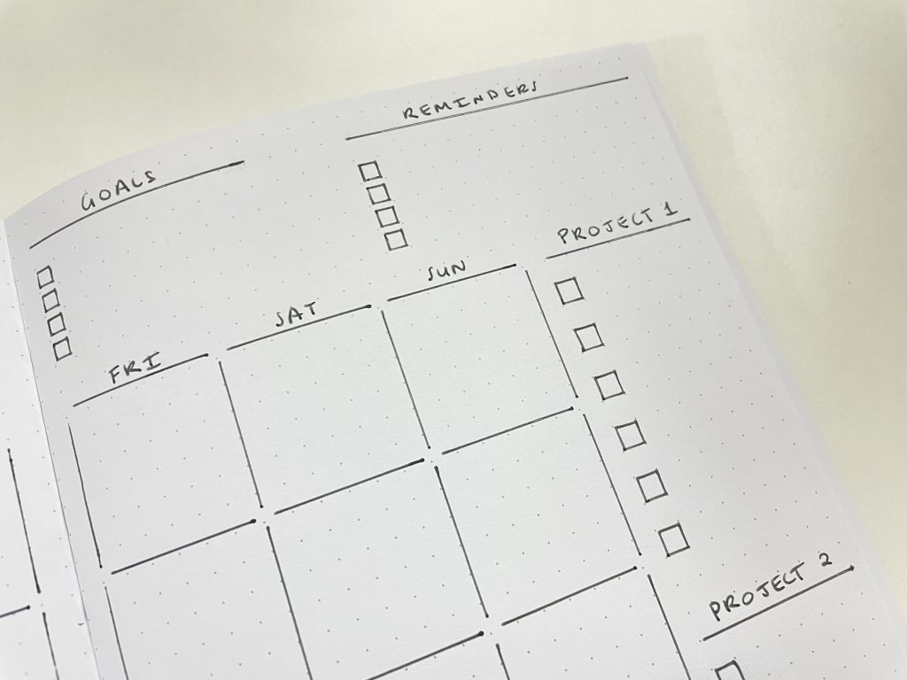 speedy stencils review monthly calendar layout 2 page spread sidebar minimalist quick simple easy evenly spaced boxes a5 stencils bujo tools for beginners