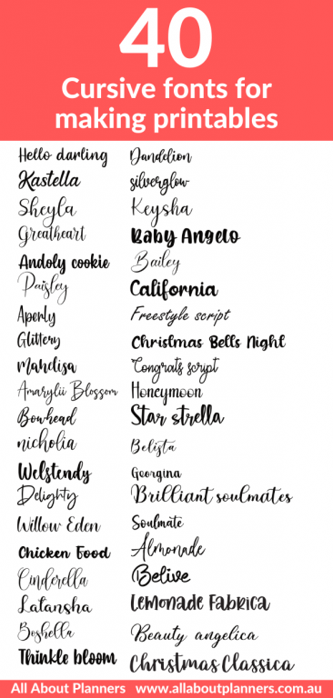 cursive fonts for making printables best font websites commercial use graphic deisgn resources all about planners how to make printables ecourse best free fonts handwritten calligraphy