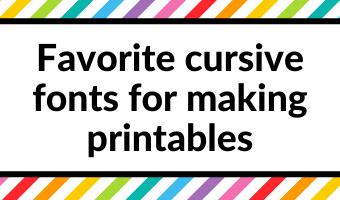 favorite cursive fonts for making printables tips resources tutorials for making planner printables sans serif font best