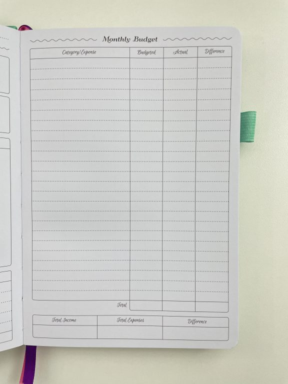 go girl budget planner monthly budget income and expenses simple minimalist pros and cons video review