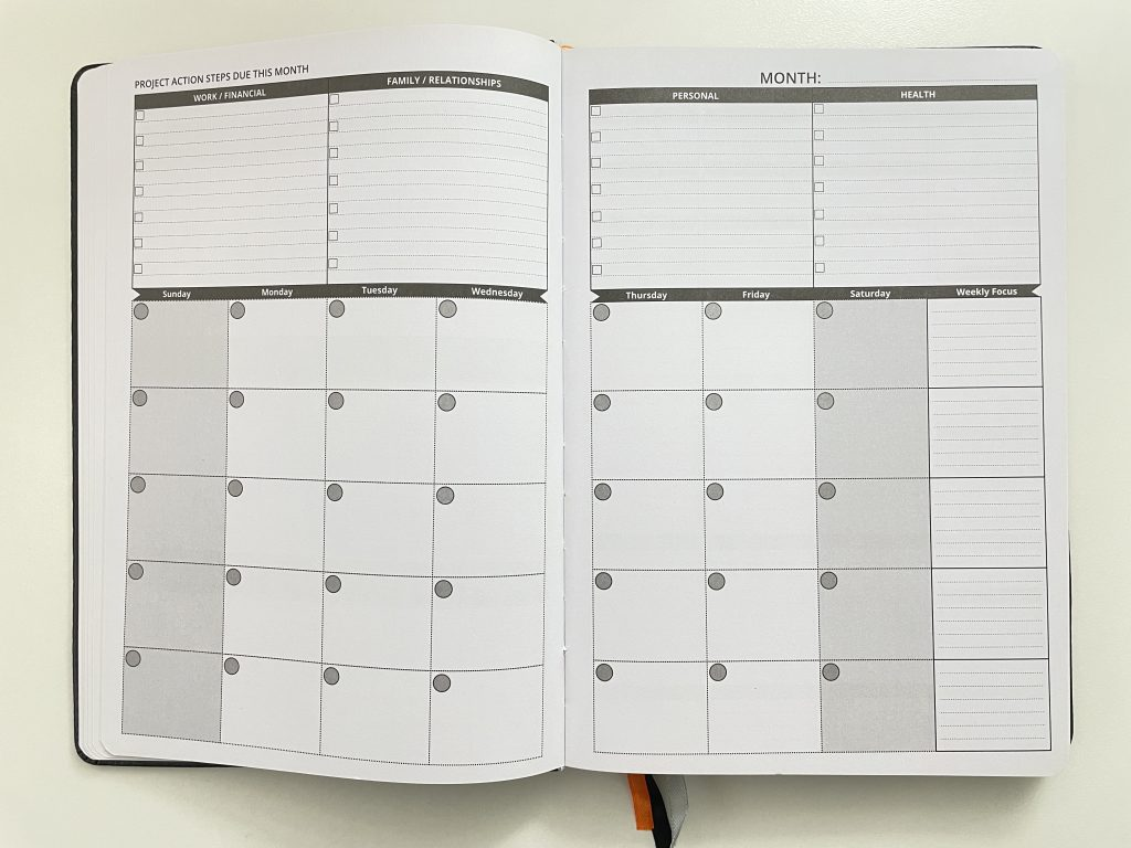 ignited life planner review monthly and weekly spreads sunday start lined checklists vertical weekly planner checklists appointments undated